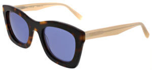kendall + kylie tortoise sunglasses with blue
